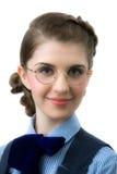 A menina em vidros redondos fotos de stock royalty free