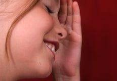 Menina Embarrassed Imagens de Stock Royalty Free