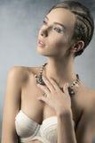 Menina encantador com composição criativa Imagens de Stock Royalty Free