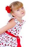 Menina encantador com rosa do vermelho Imagens de Stock