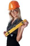 A menina encantador o construtor Fotografia de Stock