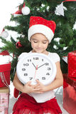 Menina encantadora no tempo do Natal Foto de Stock