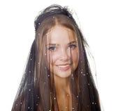 Menina encoberta beleza Foto de Stock Royalty Free