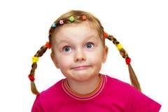 Menina engraçada Fotos de Stock