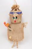 Menina engraçada da boneca de pano Fotos de Stock Royalty Free