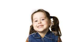 Menina engraçada de sorriso Fotografia de Stock