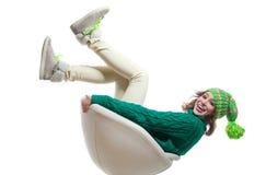 Menina engraçada do inverno Fotografia de Stock