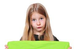 Menina engraçada que olha acima Fotografia de Stock