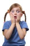 Menina engraçada querendo saber Fotos de Stock Royalty Free