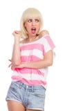 Menina enojado Foto de Stock Royalty Free