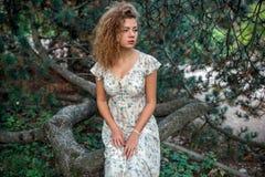 Menina ensolarada do verão Fotos de Stock Royalty Free