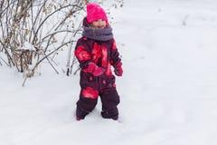 Menina entre árvores do inverno Imagem de Stock Royalty Free