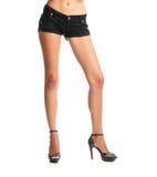 Menina ereta nos Shorts. Foto de Stock