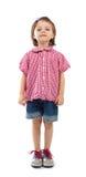 Menina ereta três anos velha Imagem de Stock