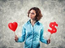 A menina escolhe o amor Imagens de Stock Royalty Free
