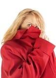 Menina escondendo do espião Imagem de Stock Royalty Free