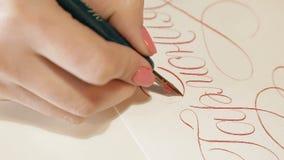 A menina escreve a caligrafia 6 filme