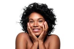 Menina escura bonita da pele imagens de stock royalty free