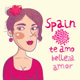 Menina espanhola Imagens de Stock