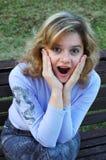 Menina espantada Imagens de Stock Royalty Free