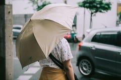 a menina está andando Imagem de Stock