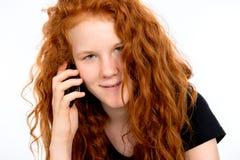 A menina está chamando Fotografia de Stock Royalty Free