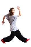 A menina está dançando Imagem de Stock Royalty Free