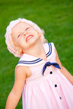 A menina está feliz Imagem de Stock