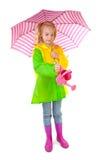 A menina está molhando as plantas Imagem de Stock Royalty Free