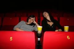 A menina está no cinema Fotos de Stock Royalty Free