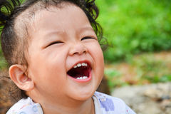 A menina está rindo Foto de Stock