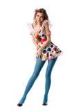 Menina estranha bonita engraçada foto de stock