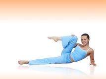 A menina exercita Fotos de Stock Royalty Free