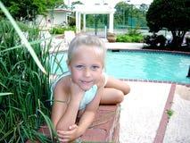Menina Eyed azul bonito Imagens de Stock