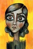 Menina Eyed grande Imagem de Stock