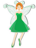 Menina feericamente no verde Fotografia de Stock Royalty Free