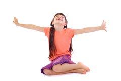 Menina feliz foto de stock royalty free