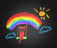 Menina feliz ilustração do vetor