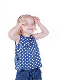 Menina feliz 3 anos de sorriso velho Foto de Stock Royalty Free