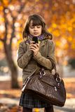 Menina feliz ao ar livre Imagem de Stock