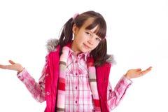 A menina feliz com braços abre imagens de stock