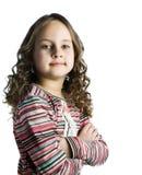 Menina feliz com cabelo longo Fotografia de Stock Royalty Free