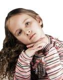 Menina feliz com cabelo longo Imagem de Stock Royalty Free