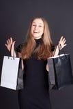 Menina feliz com compra Imagens de Stock
