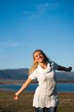 Menina feliz da beleza Imagens de Stock Royalty Free