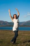 Menina feliz da beleza Fotos de Stock