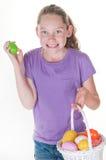 Menina feliz de Easter imagem de stock royalty free