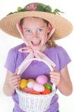 Menina feliz de Easter imagens de stock royalty free