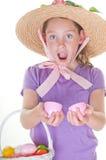 Menina feliz de Easter imagens de stock