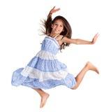 Menina feliz de salto Imagens de Stock